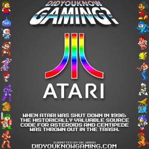 atari fact 300x300 Random Game Facts   Atari Source Code Discarded