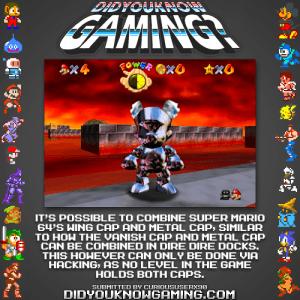 mario double cap fact 300x300 Random Game Facts   Metal Winged Mario