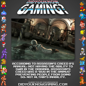 assassins creed ii fact 300x300 Random Game Facts   Assassins Creed II Swimming
