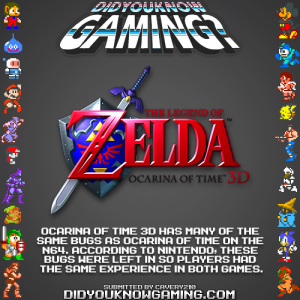 oot3d bugs fact 300x300 Random Game Facts The Legend of Zelda: Ocarina of Time 3D Bugs